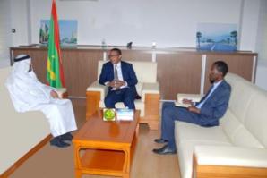 Le ministre du pétrole, de l'énergie et des mines reçoit l'ambassadeur des Emirats Arabes Unis