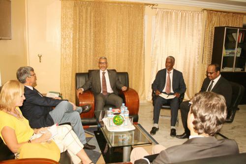Le commissaire aux droits de l'homme reçoit l'ambassadeur, chef de la Délégation de l'Union Européenne en Mauritanie