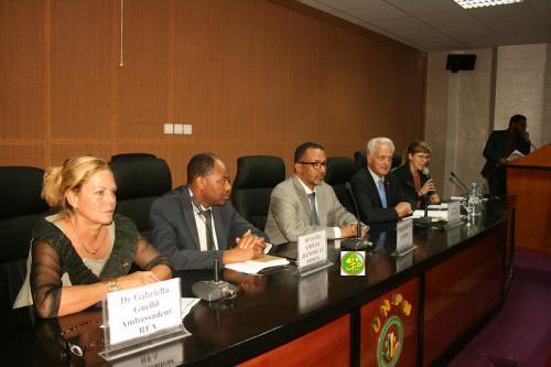 Séance de travail entre l'Union Nationale du Patronat de Mauritanie et une délégation allemande