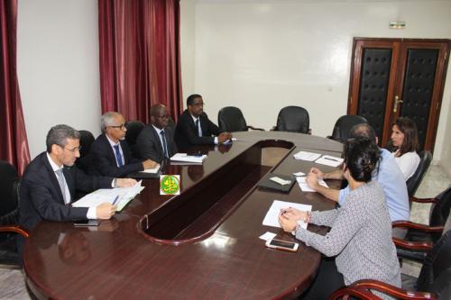 Le ministre des finances s'entretient avec une mission de la Banque Mondiale Nouakchott,  01/10/2019