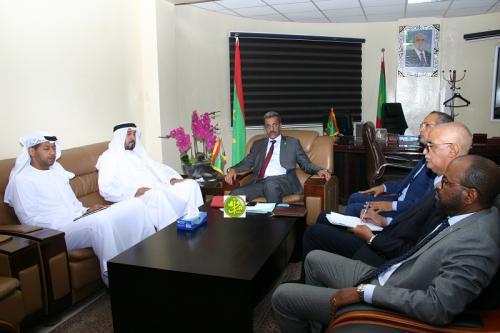 Le ministre du développement rural s'entretient avec l'ambassadeur des Emirats Arabes Unis à Nouakchott