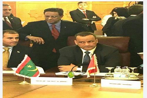 Le ministre des affaires étrangères représente la Mauritanieà la réunion extraordinaire de la Ligue des Etats arabes