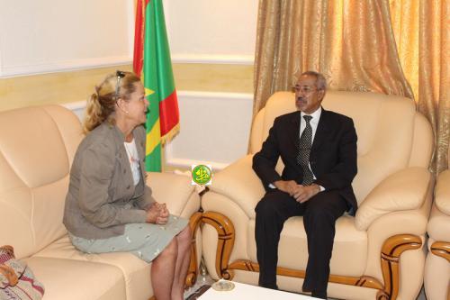 Le ministre de la défense nationale s'entretient avec l'ambassadrice d'Allemangne