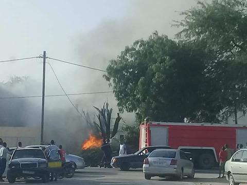 Incendie à proximité du Centre Hospitalier National