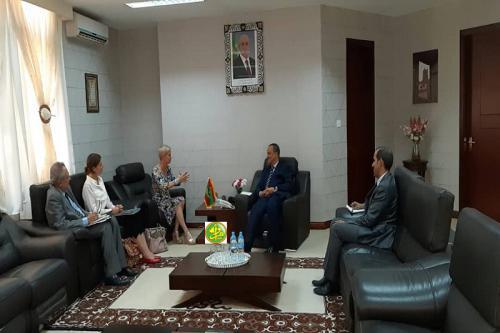 Le ministre des affaires étrangères reçoit l'ambassadrice des Pays Bas