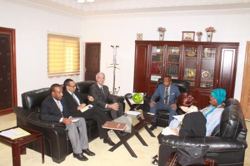 Le ministre de la Justice reçoit le Représentant résident de l'UNICEF
