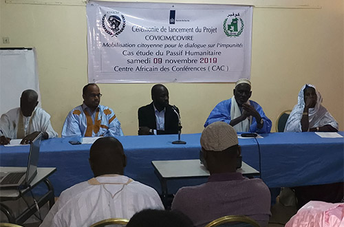 Lancement du projet COVICIM/COVIRE sur le dialogue sur l'impunité