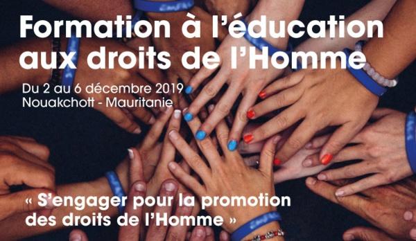 Formation à l'éducation aux droits de l'homme du 2 au 6 décembre 2019 en Mauritanie