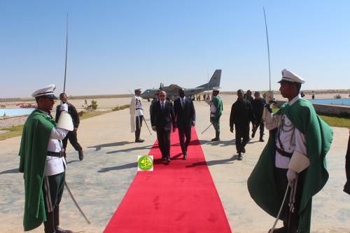 Le président de la République regagne Nouakchott en provenance d'Akjoujt