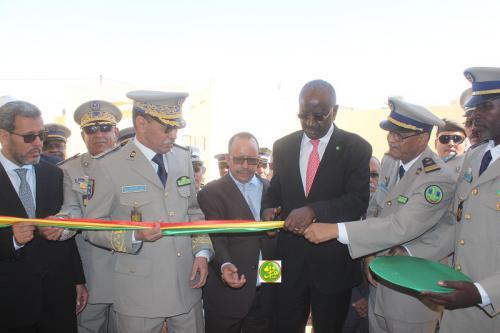 Le ministre de l'Intérieur, en compagnie du Chef d'état-major général de la Garde, supervise l'inauguration du nouveau siège du GSS n°3