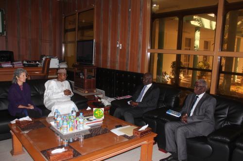 Le ministre de l'Intérieur s'entretient avec le représentant spécial du secrétaire général de l'ONU
