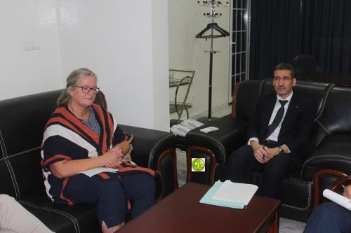 Le ministre des finances reçoit chef de la coopération à l'ambassade d'Allemagne