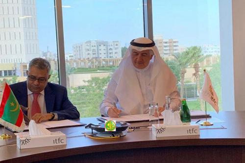 Signature d'une convention de financement entre la Mauritanie et la Société internationale islamique de financement du commerce (ITFC)