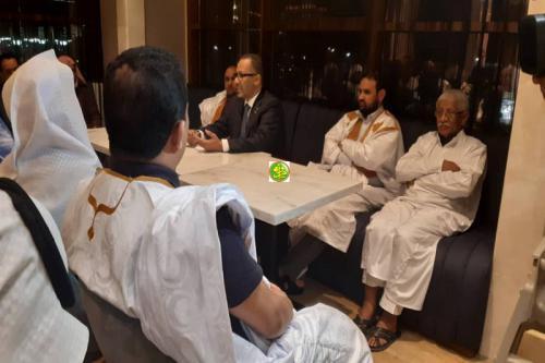 Le président de l'UPM rencontre des représentants de la colonie mauritanienne en Arabie Saoudite