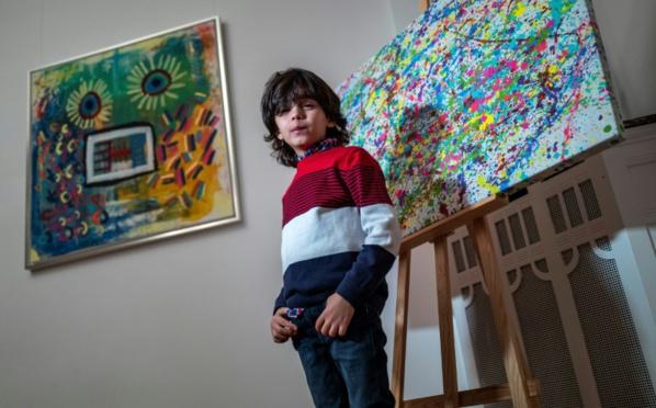 """A 7 ans, le """"mini Picasso"""" allemand agite le monde de l'art"""