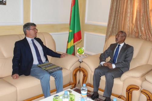 Le ministre de la Défense a reçu le chef de la Délégation de l'Union Européenne à Nouakchott