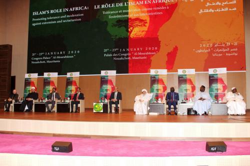 Le Président de la République préside la cérémonie d'ouverture du premier forum international sur le rôle de l'Islam en Afrique Nouakchott,  21/01/2020