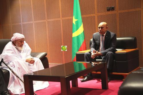 Le Président de la République reçoit le président du forum pour le renforcement de la paix dans les sociétés musulmanes
