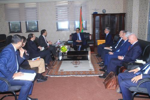 Le ministre de l'Economie reçoit le représentant spécial de l'Union Européenne au Sahel