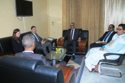 Le commissaire aux droits de l'Homme s'entretient avec l'ambassadeur des Etats Unis d'Amérique en Mauritanie