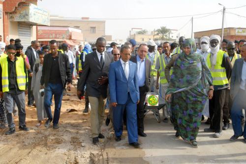 Démarrage des travaux du projet d'extension des trottoirs de Nouakchott