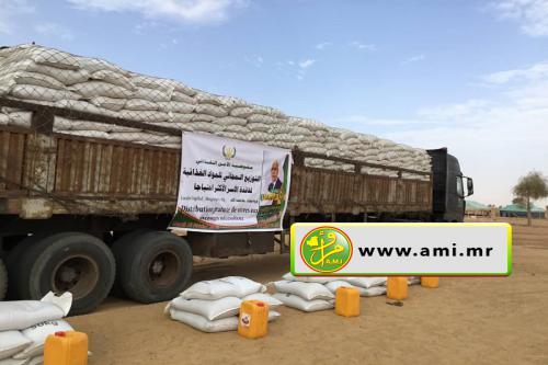 Brakna : Distribution à Aghchorguit des produits alimentaires aux populations nécessiteuses