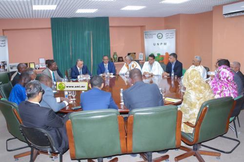 Le président de la Commission Nationale des Droits de l'Homme se réunit avec le président du Patronat Mauritanien