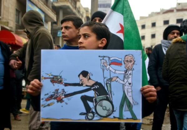 """Syrie: Erdogan exhorte Poutine à """"freiner"""" le régime d'Assad à Idleb"""