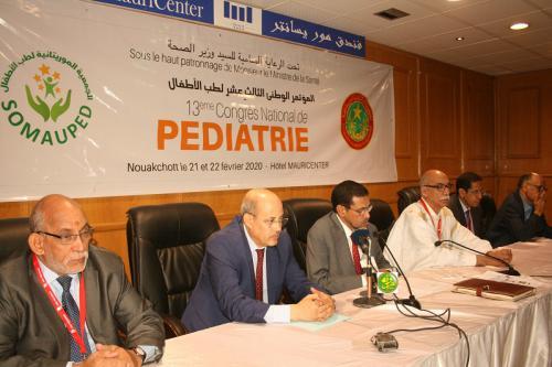 Démarrage du 13e congrès de la Société mauritanienne de Pédiatrie
