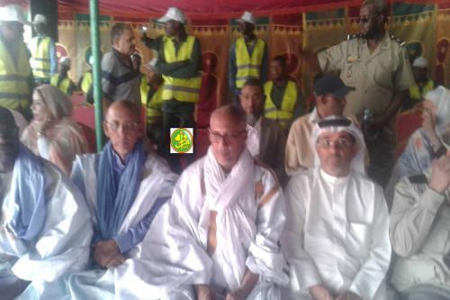 Pose de la première pierre du siège de la Société arabe des services agricoles