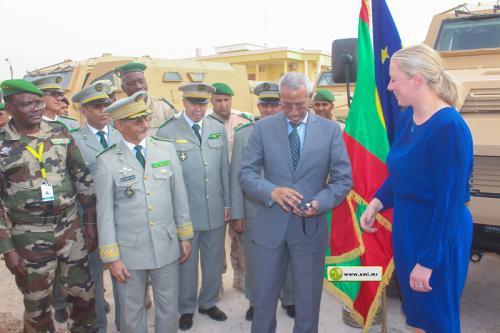 Réception d'un don européen de véhicules blindés au bataillon mauritanien de la force conjointe G5 Sahel