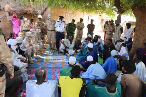 Le chef d'état-major général des Armées s'enquiert de l'état du secteur frontalier entre Gouraye et Ould Yengé