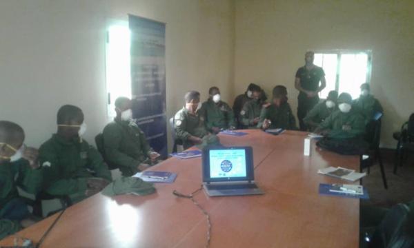 Hodh El Gharbi: L'OIM sensibilise les forces de sécurité de Gogui sur le COVID-19
