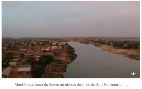Montée des eaux du fleuve au niveau de villes du Sud Est mauritanien