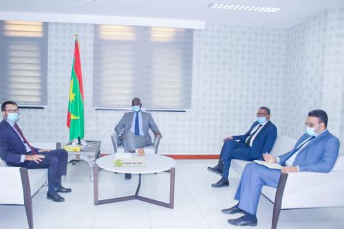 Le ministre des Affaires économiques reçoit le représentant résident de la Banque Africaine de Développement
