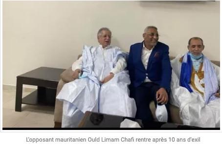 L'opposant mauritanien Ould Limam Chafi rentre après 10 ans d'exil