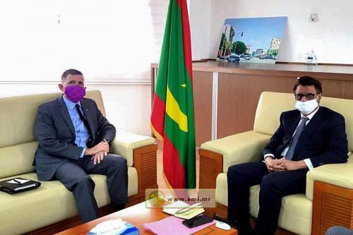 Le ministre du Pétrole reçoit l'ambassadeur des USA