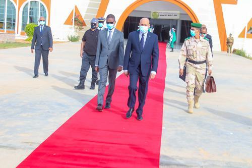 Départ du Président de la République pour la ville de Zouerate
