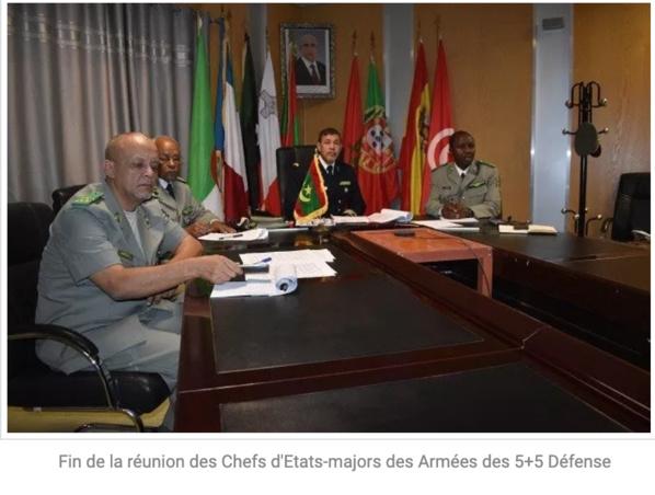 Fin de la réunion des Chefs d'Etats-majors des Armées des 5+5 Défense