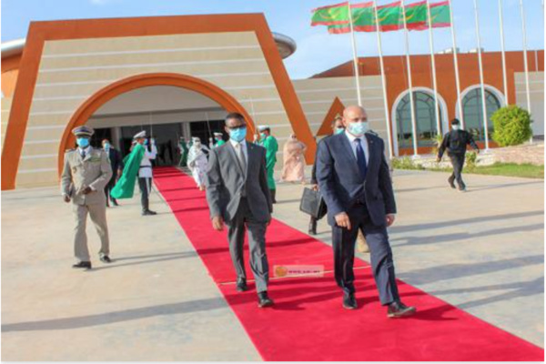Le Président de la République quitte Nouakchoo à destination de la wilaya du Gorgol Nouakchott,  15/11/2020
