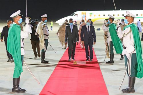 Le président de la République regagne Nouakchott au terme de sa visite au Gorgol