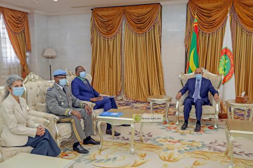 Le Président de la République reçoit le représentant spécial du secrétaire général et Chef de la mission (MINUSCA)