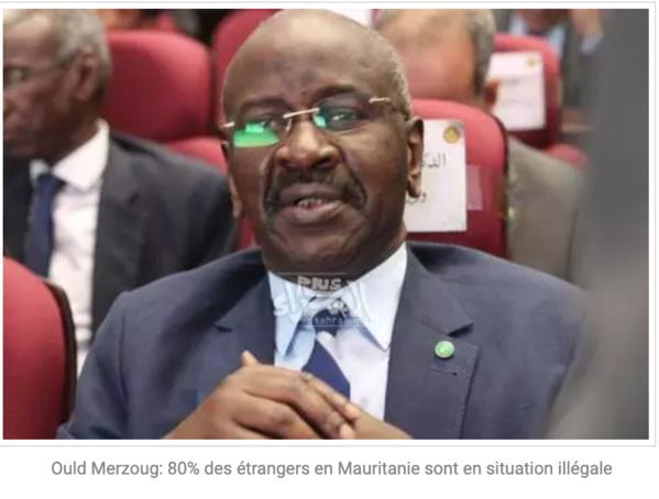 Ould Merzoug: 80% des étrangers en Mauritanie sont en situation illégale