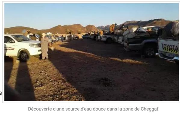 Découverte d'une source d'eau douce dans la zone de Cheggat