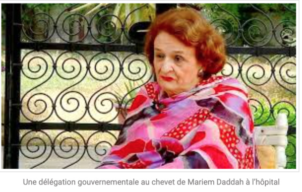 Le gouvernement suit avec attention l'état de santé de Mariem Daddah
