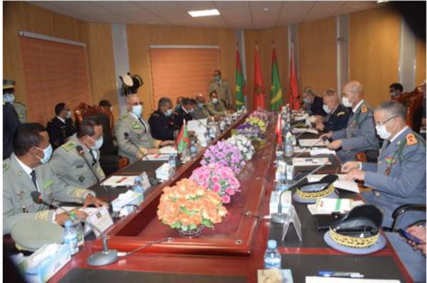 Le Chef d''état-major général des Armées préside la deuxième réunion de la commission militaire mixte mauritano-marocaine