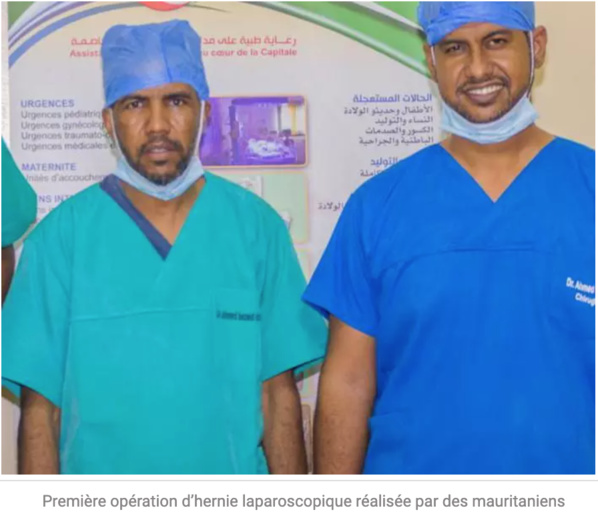 Première opération d'hernie laparoscopique réalisée par des mauritaniens