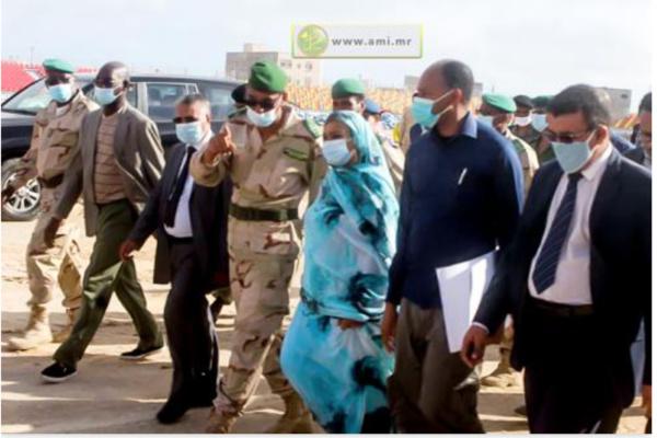 La ministre de l'Habitat inspecte certains projets en cours à Nouadhibou