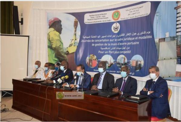 Concertation sur le cadre juridique et les procédures de gestion de la main d'œuvre portuaire