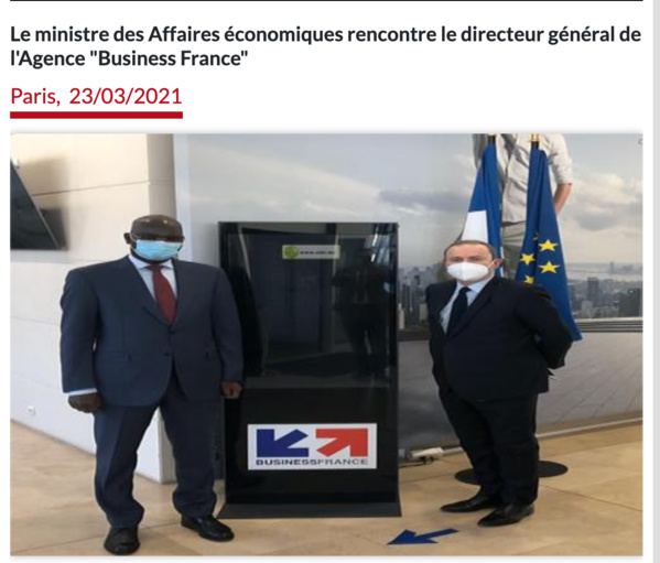 """Le ministre des Affaires économiques rencontre le directeur général de l'Agence """"Business France"""""""